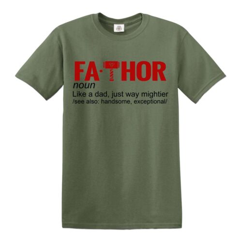 Fathor T-Shirt Fa-Thor Like A Dad Just Way Mightier tshirt Fathers Day Gift Top