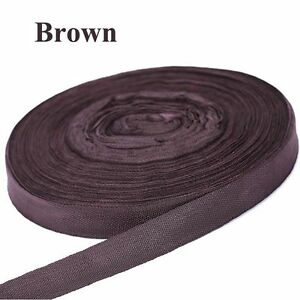"1"" Brown 5 Yards Nylon Ribbon Strapping, Light Weight, Crafts, Straps, Leash"