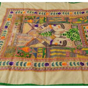 Tcw-New-Cream-Heavy-Dupatta-Hand-Embroidered-Kantha-Stole-Chanderi-Silk