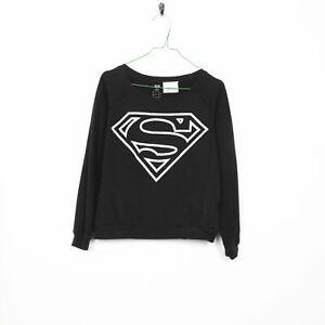 Vintage Women's Superman Graphic Sweat-shirt Noir | Petit S