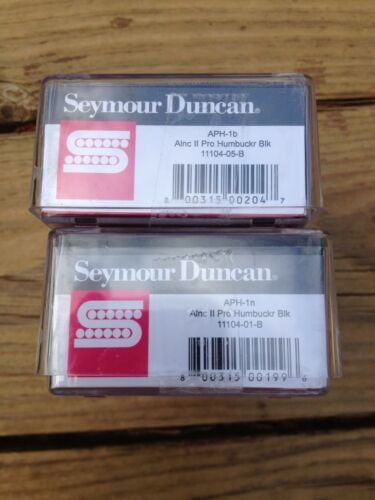 Seymour Duncan APH-1 Alnico II Pro Neck /& Bridge Pickup Set Black Humbucker