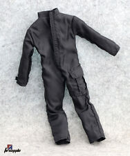"1/6 Scale Hot Black Suit Clothes Jumpsuits Coveralls For 12"" Action Figure Toys"