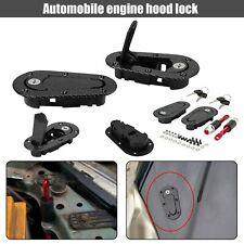 Racing Lock Plus Flush Hood Latch Pin Kit Carbon Fiber JDM style without key