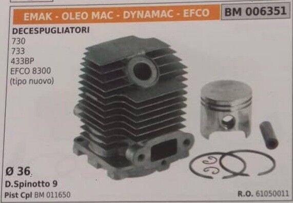 61050011 CILINDRO COMPL DECESPUGLIATORE EMAK OLEOMAC DYNAMAC EFCO 730 733 433BP