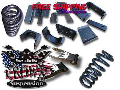 "Crown Suspension 2007-2017 Silverado V8 3/""-2/"" Lowering Drop Coil Shackle Kit"
