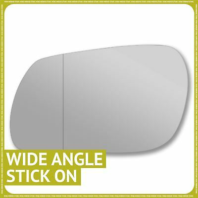 Driver Side WING DOOR MIRROR GLASS For Ford Fiesta 2002-2007 Stick On