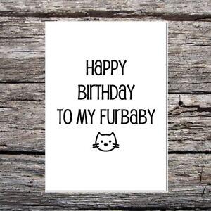 Drole-Mignon-Carte-d-039-anniversaire-pour-le-chat-Joyeux-Anniversaire-a-Mon-furbaby