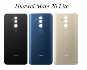 VITRE-ARRIERE-CACHE-batterie-OEM-ORIGINALE-Huawei-Mate-20-lite-bleu-or-noir