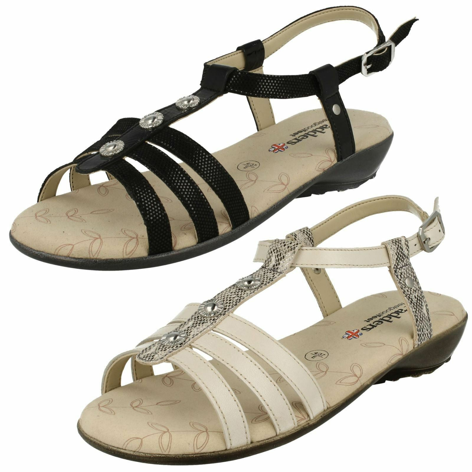 LADIES PADDERS PEARL 792 WIDE FIT OPEN TOE BUCKLE FASTEN CASUAL SUMMER SANDALS