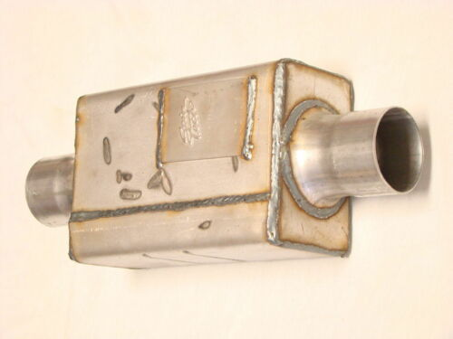 """SPINTECH  MUFFLER Stainless Steel Super Pro 3/"""" Center In//Out 9000 Series"""