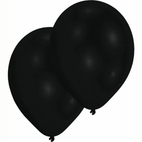 10er Pack Partydekoration Latexballons Luftballon Perlmutt-Schwarz