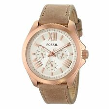 Fossil Womens AM4532 Multifunction Gold-Tone Stainless Steel Brown Band Watch