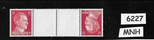 Original-Se-Tenant-MNH-Adolph-Hitler-stamps-1941-PF12-Third-Reich-Germany