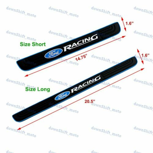 For Ford Racing Protector Sill Scuff Panel Cover Door Decal Anti Scratch Blue X4