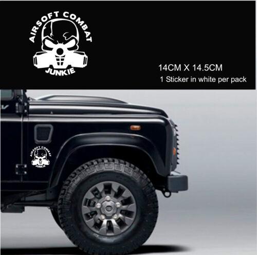 AIRSOFT  COMBAT JUNKIE WEAPON  Funny Car Van Truck 4X4 Sticker TACTICAL