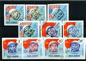 RUMANIA-ROMANIA-ano-1963-C-A-yvert-nr-199-208-sin-dentar-usada-cosmos