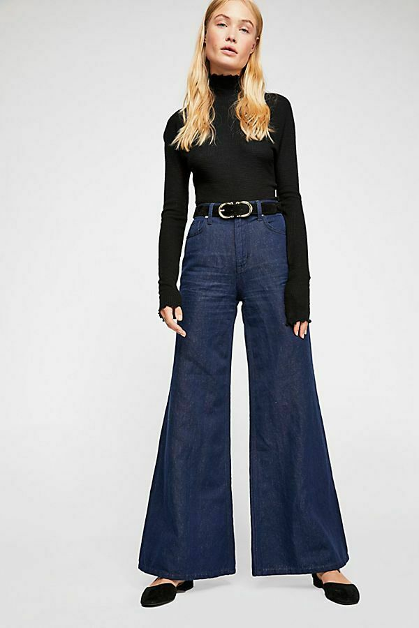 Free People NEW Size 31 Super High-Rise Wide-Leg Jeans