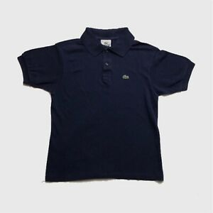 Womens-Lacoste-Top-Small-Medium-Navy-Blue-Good-Condition