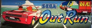 "Out Run dédié Arcade MARQUEE – 23.5"" x 8"" (disponible en 26"" X 8"")"