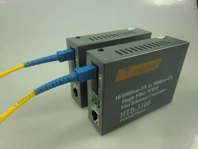 10/100Mbps Ethernet to Single mode Fiber Optic Media Converter Transceiver- 25KM