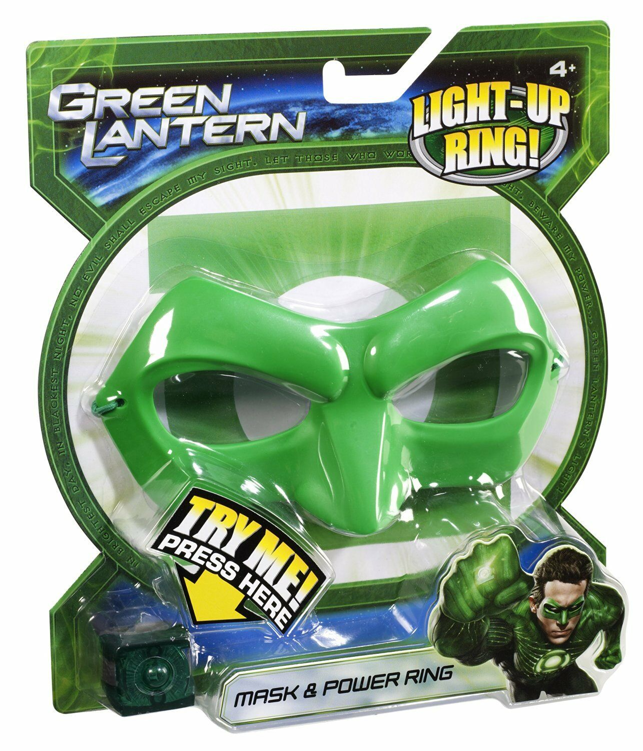 GREEN LANTERN MASK & POWER RING LITES UP 2011 NU