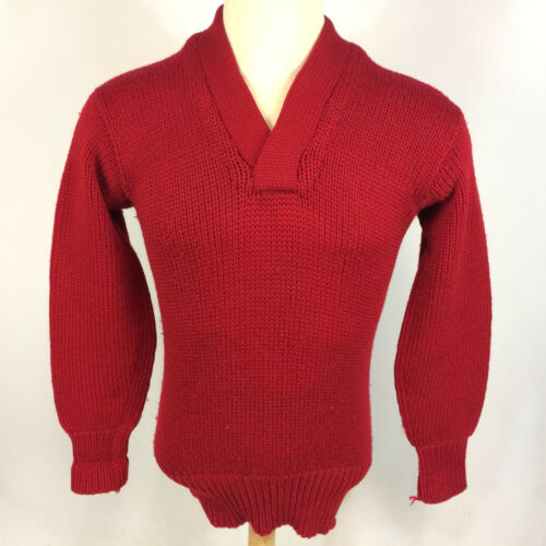 Vintage 1930s 40s Thick Wool Knit Sports Athletic