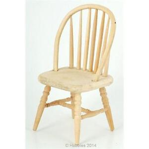 Dolls House Chair Bare Wood Furniture 1 12 Scale Bef025 Ebay
