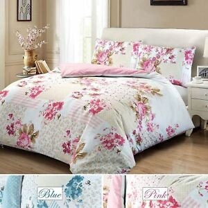 Rose-Floral-100-Cotton-Quilt-Duvet-Cover-Single-Double-Super-King-Bedding-Set