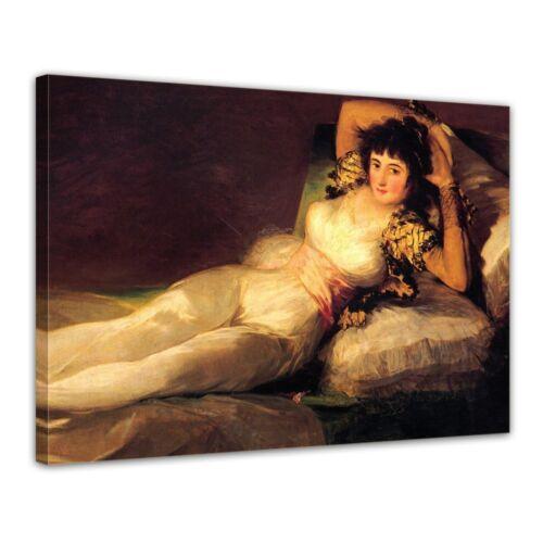 Kunstdruck Francisco de Goya Die bekleidete Maja Alte Meister
