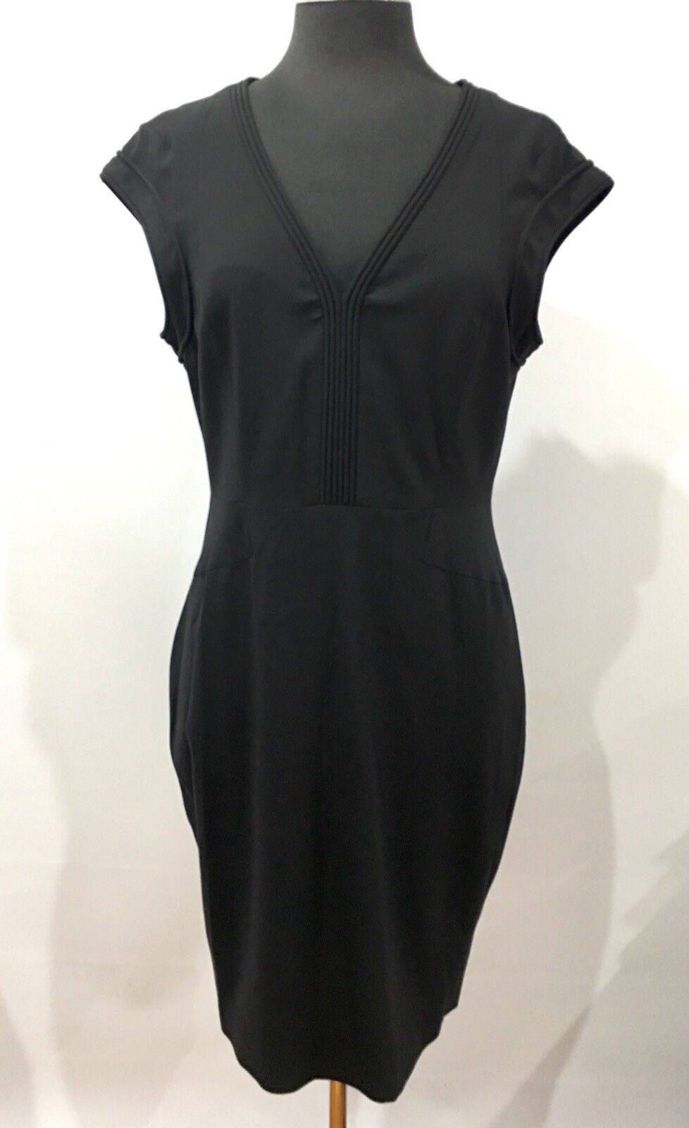 NEW Rachel Roy Quality Fabric Designer Fashion Vintage schwarz Dress Größe 12 US