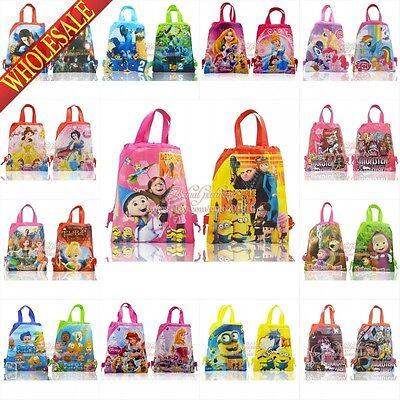 4PCS Drawstring Backpack Bags,School Handbags,Children Backpacks,Kids Party Gift