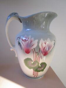 Antique-Pitcher-Jug-Victorian-1880-1910-Villeroy-Boch-Mettlach-Ceramic-12-034