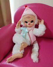 "Vintage rubber face rushton monkey doll 16"""