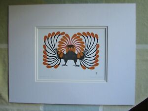 034-AUTUMNAL-OWL-034-by-Inuit-artist-KENOJUAK-ASHEVAK-matted-art-print