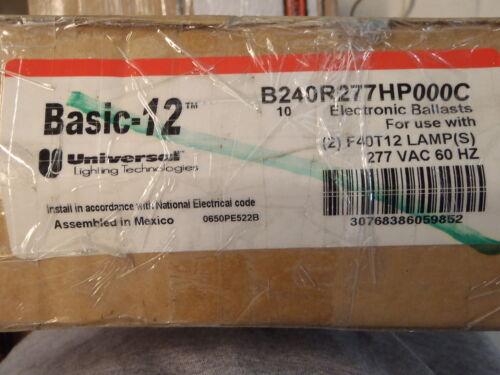 Basic 12 Universal Lighting Technologies Ballasts B240R277HP000C Each
