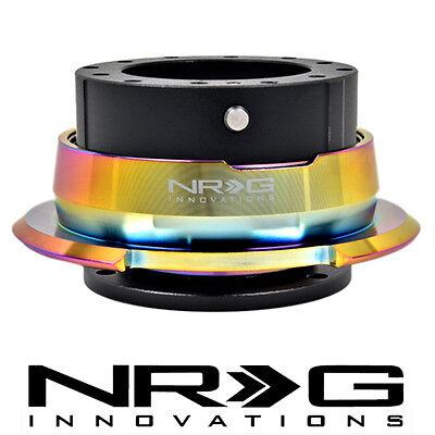NRG STEERING WHEEL VER 2.8 QUICK RELEASE  BLACK BODY NEO CHROME RING SRK-280BKMC