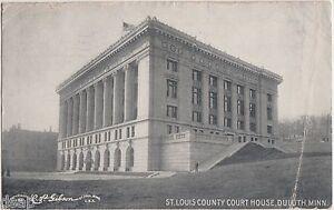 c1910-DULUTH-Minnesota-Minn-Postcard-Mn-ST-LOUIS-COUNTY-COURT-HOUSE