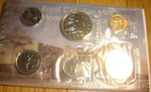 1977-Canada-PL-RCM-Set-6-Coins-UNC