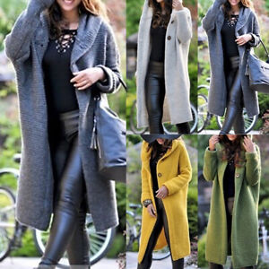 Women-Ladies-Solid-Cardigan-Coat-Top-Jacket-Hooded-Open-Front-Sweater-Jumper-New