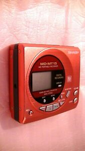 VINTAGE-SHARP-MD-MINIDISC-WALKMAN-RECORDER-MD-MT15-in-pink-color-for-Ladies
