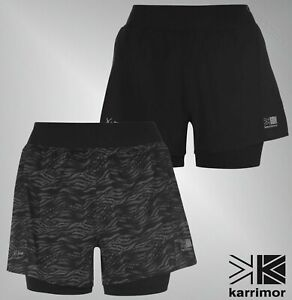 Ladies-Karrimor-Breathable-X-Lite-Comfortable-2-in-1-Shorts-Sizes-8-16