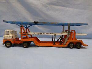 Vintage-Corgi-ferrymasters-Scammell-Carrimore-trideck-coche-camion-transportador-de-juguete