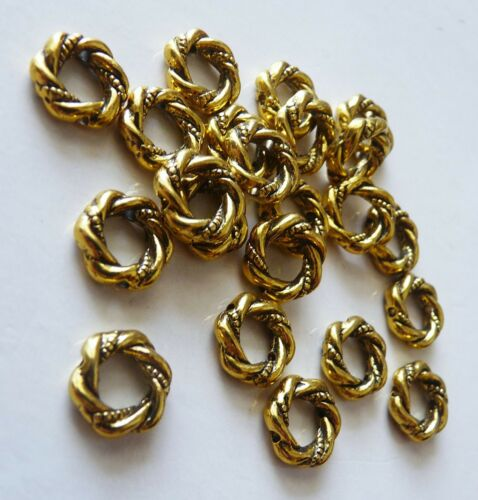 10x Flat Metal Spacer Bead Frame Charms 11mm Round Beading Supplies Silver//Gold