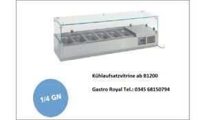 79505115 Kühlaufsatzvitrine Pizzakühlaufsatz Kühl Vitrine Aufsatzvitrine GN 1//4