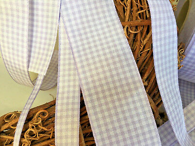 ~Bows Ribbon and Lace~Berisfords Gingham Ribbon Shade 910 Orchid Choose Length