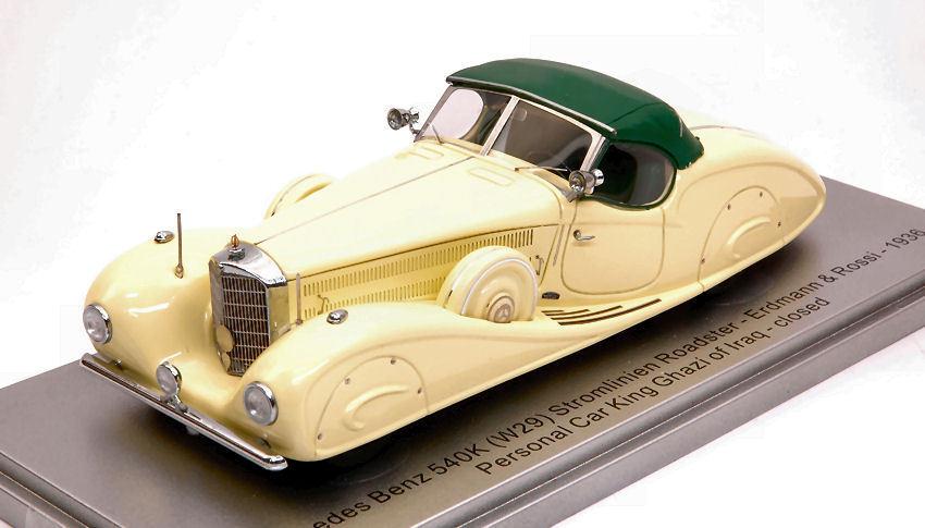 Mercedes 540k e & r 1936 persönlicher auto könig ghazi in limitierter auflage 250 pcs 1 43