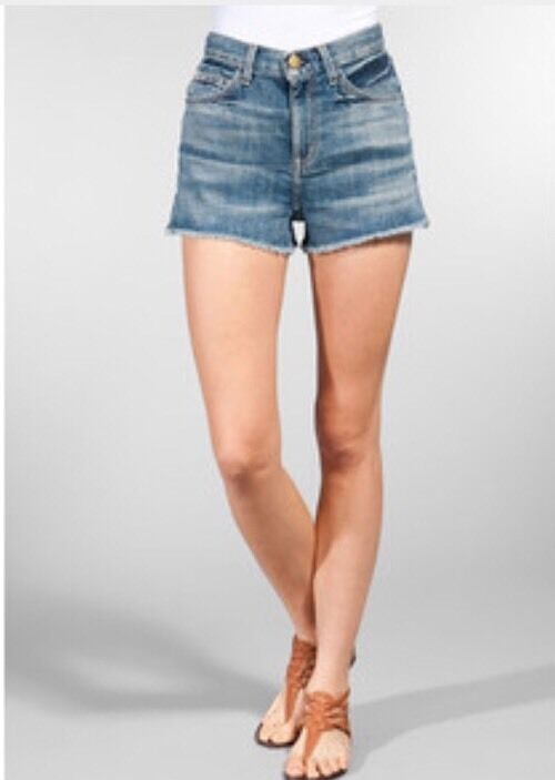 Current Elliott Women's The High Waisted Cut Off Jean Short 25  185 Sold Out  cg