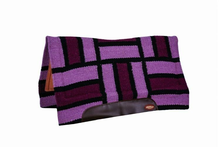 Showman 33 x38  contorneada Cojín Con Diseño De Rectángulo Púrpura  nuevo Tachuela del caballo