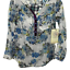 thumbnail 4 - New Anthropologie Cyrena S Tunic Top Blouse Shirt Floral Plaid Blue White Hi Low
