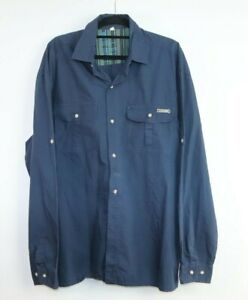 Gondwana Men's Long Sleeve Blue Hiking Shirt Size XL